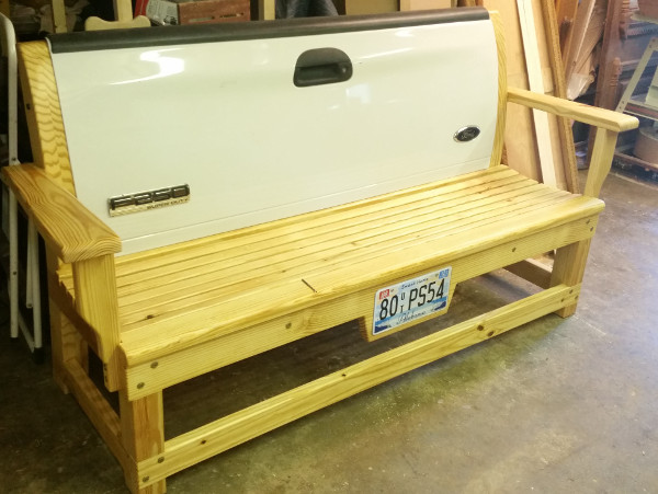 Ford F250 tailgate bench